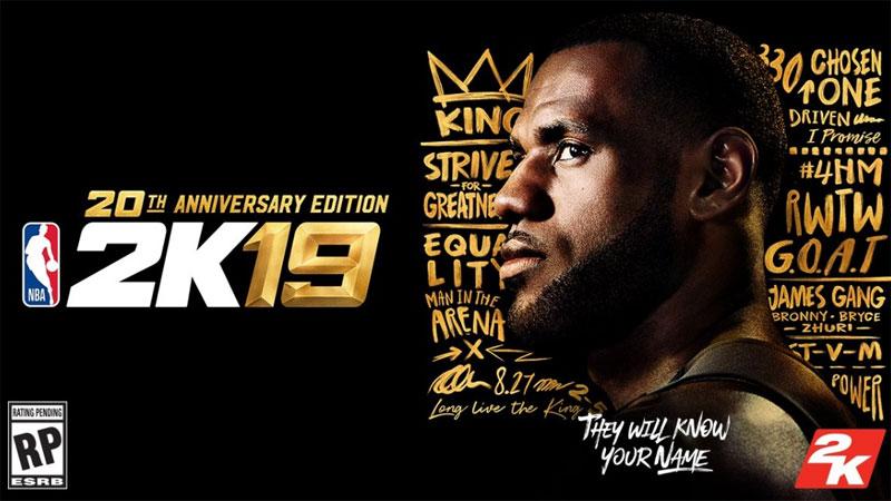 LeBron James es el atleta de la portada de la NBA 2K19 FULL