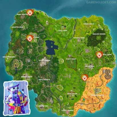 donde encontrar Carnival Clown Board en fortnite