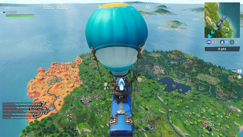 Fortnite Cómo agradecer al conductor del bus en PC