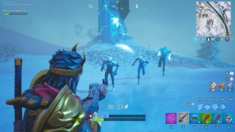 donde estan los demonios de hielo fortnite