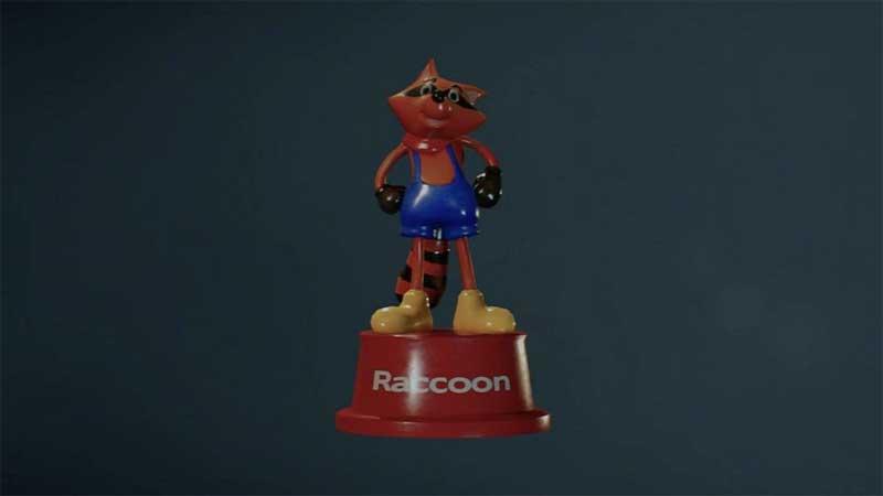 juguetes de Mr Raccoon ubicación